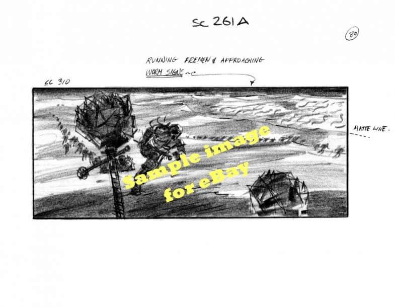 David Lynch: Dune original storyboard drawings