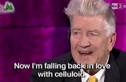 David Lynch is falling back in love with celluloid (film).