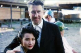 "David Lynch and Joan Chen behind the scenes of one of ""The Missing Piece"" from Twin Peaks: Fire Walk with Me"