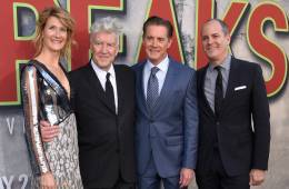 David Lynch, Laura Dern, Kyle MacLachlan & David Nevins at the Twin Peaks premiere