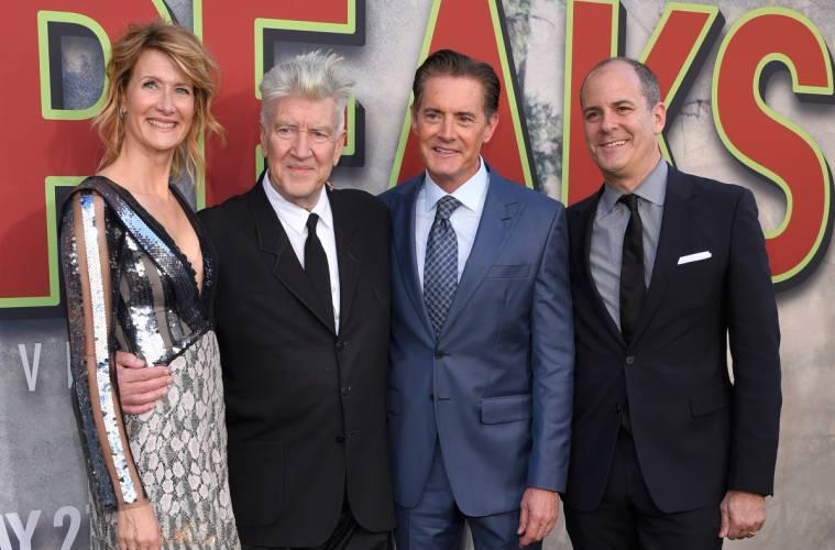 David Lynch, Laura Dern, Kyle MacLachlan & David Nevins at the Twin Peaks premiere