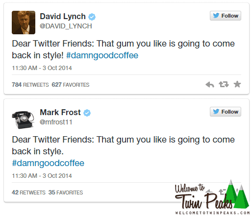 David Lynch Mark Frost Tweets