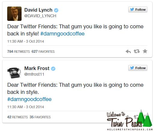 David Lynch Mark Frost Tweets