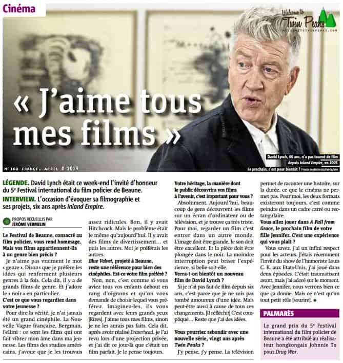David Lynch - Metro France