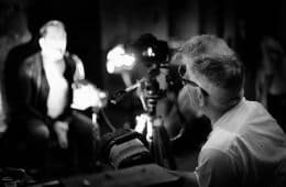 Behind the scenes: David Lynch shooting Nine Inch Nails video on a Canon 5D. Photo by Rob Sheridan.