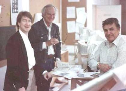 David Lynch, production designer Tony Masters and illustrator Mentor Huebner