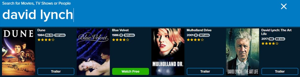 David Lynch on VUDU