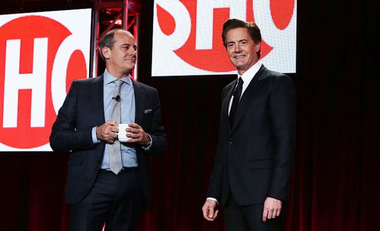 Showtime's David Nevins and Kyle MacLachlan