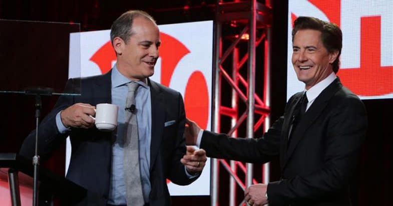 Showtime boss David Nevins and Kyle MacLachlan