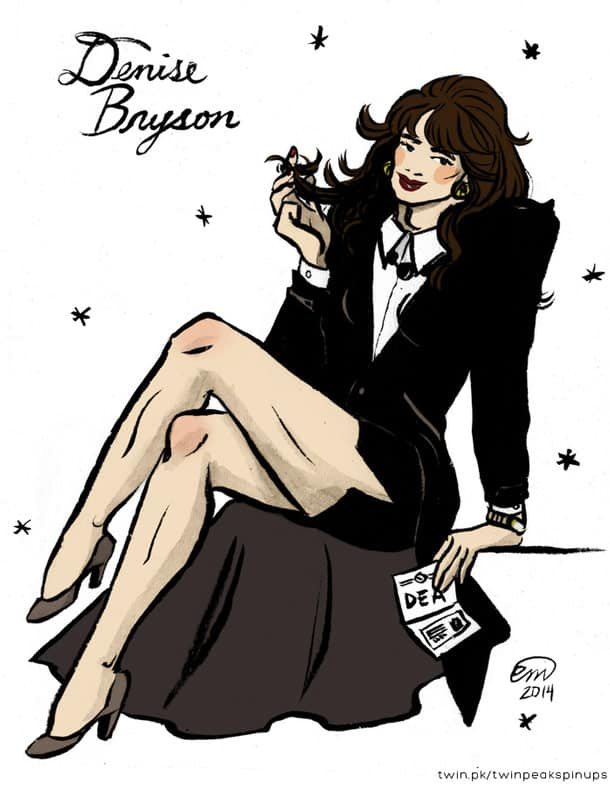 Denise Bryson as a pin-up