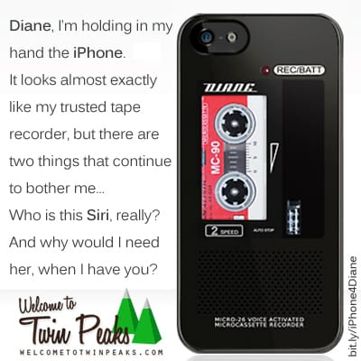 Diane, Dale Cooper's tape recorder iPhone case