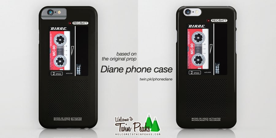 new style 7b2f4 d8ba8 Diane, Dale Cooper's Tape Recorder Case For iPhone & Samsung Galaxy