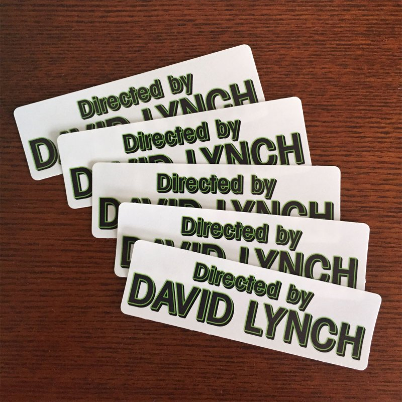 Directed by David Lynch sticker pack
