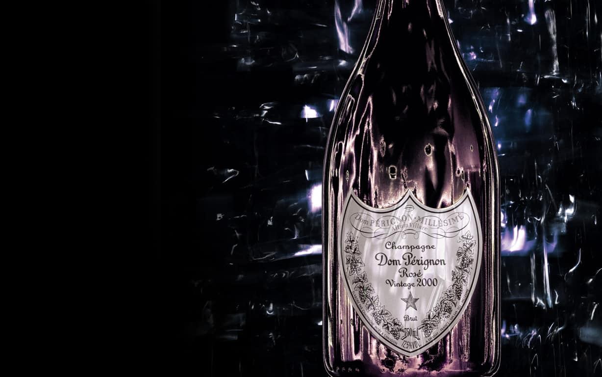 Dom Pérignon Rosé bottle by David Lynch