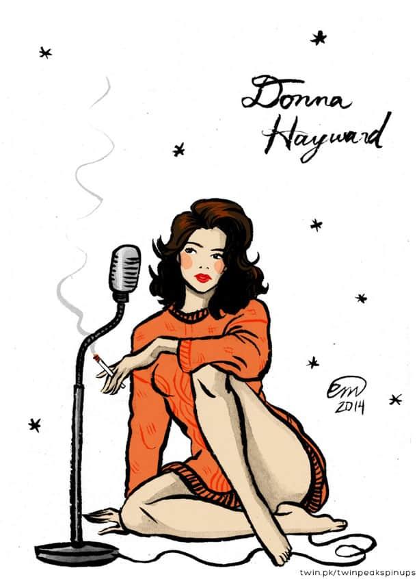 Donna Hayward pin-up