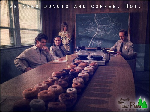 Twin Peaks: table of donuts