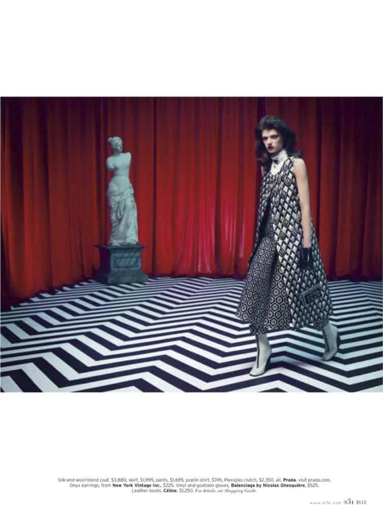 Elle magazine Twin Peaks photo shoot (4)