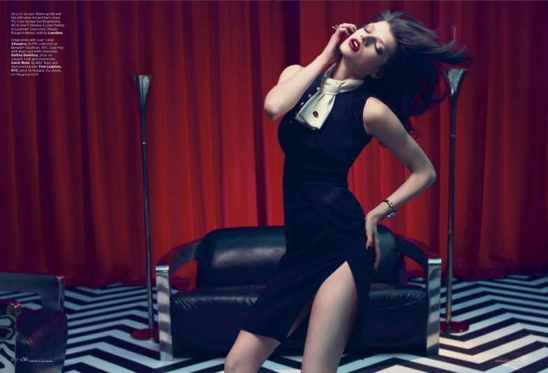 Elle magazine Twin Peaks photo shoot (8)