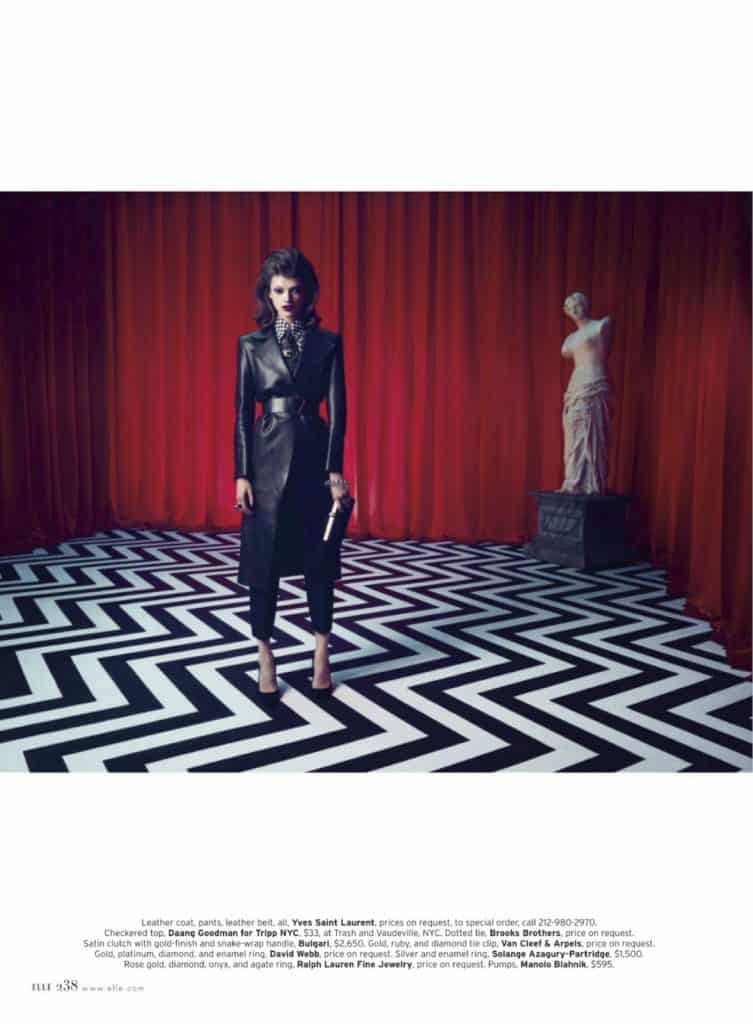 Elle magazine Twin Peaks photo shoot (9)