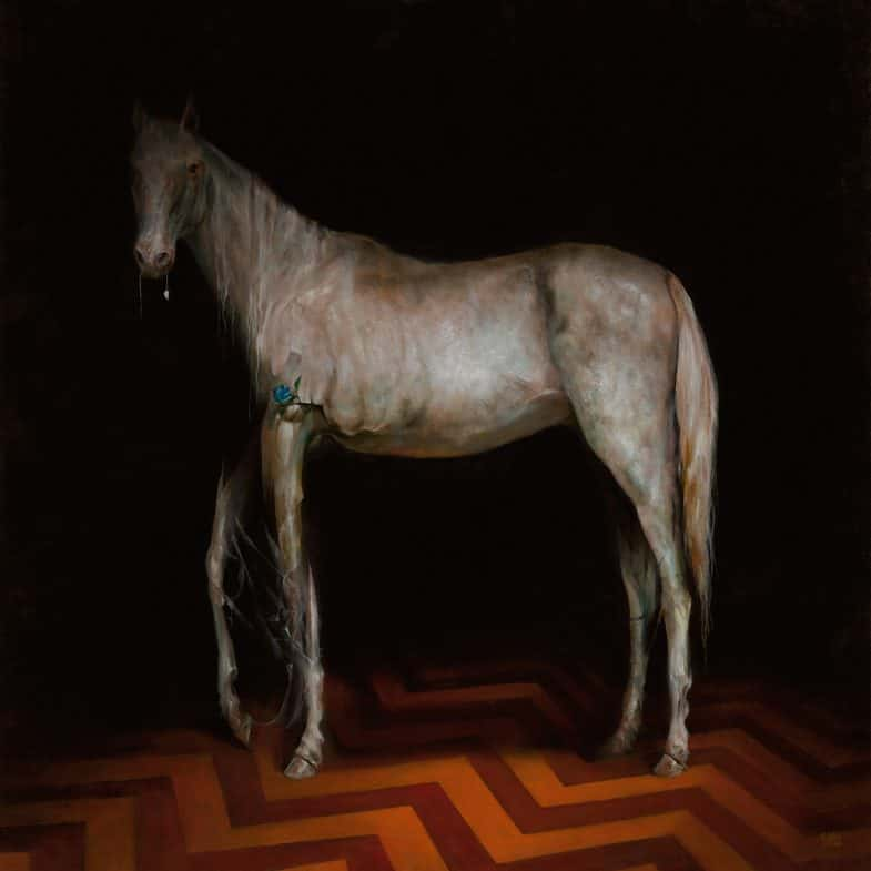 Twin Peaks Art Close Up White Horse By Esao Andrews