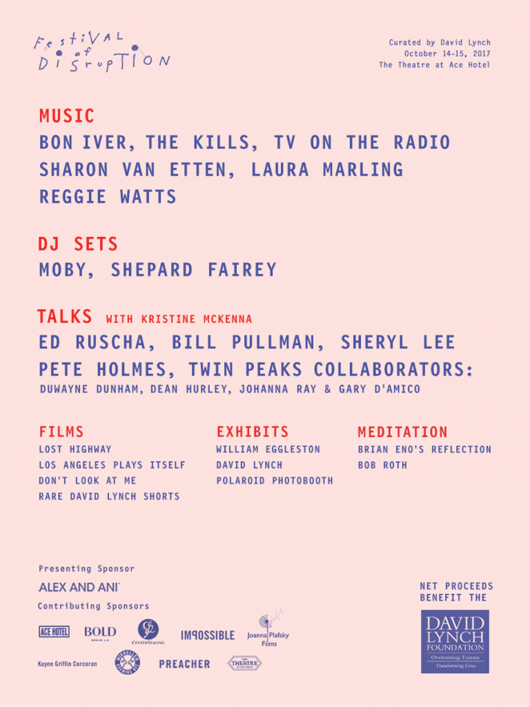 Festival of Disruption 2017 Lineup Poster