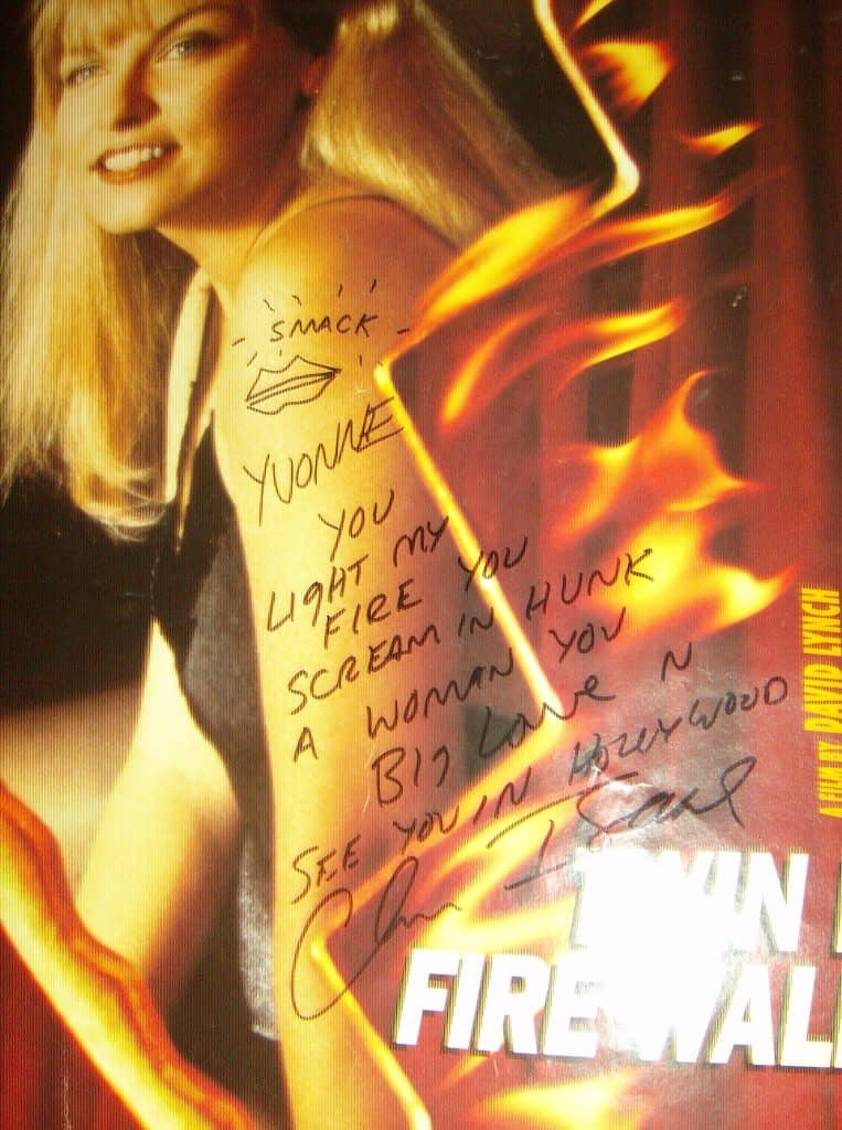 Twin Peaks: Fire Walk with Me signed by Chris Isaak