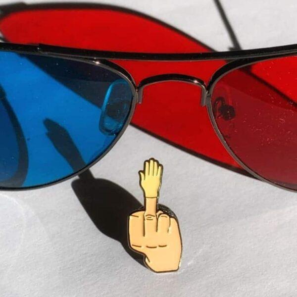 Five Finger Salute Pin