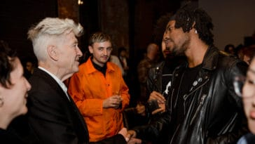 David Lynch and Flying Lotus at the Festival of Disruption's kick-off party in May 2018. Courtesy of the David Lynch Foundation.