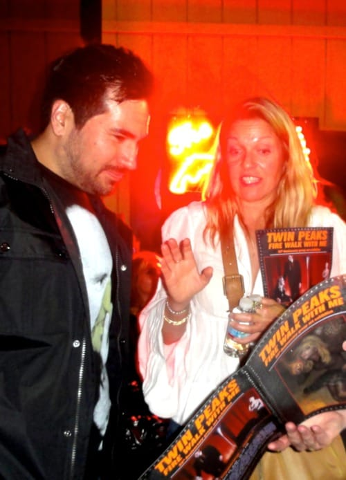 Artist Brian Viveros with Sheryl Lee