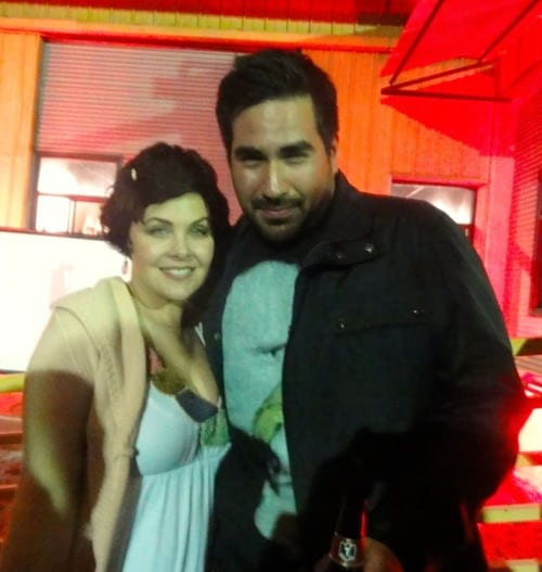 Artist Brian Viveros with Sherilyn Fenn