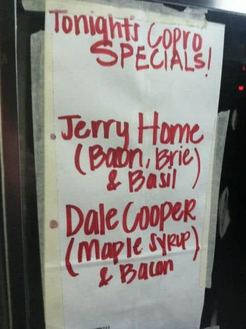 Crispy Truck's menu