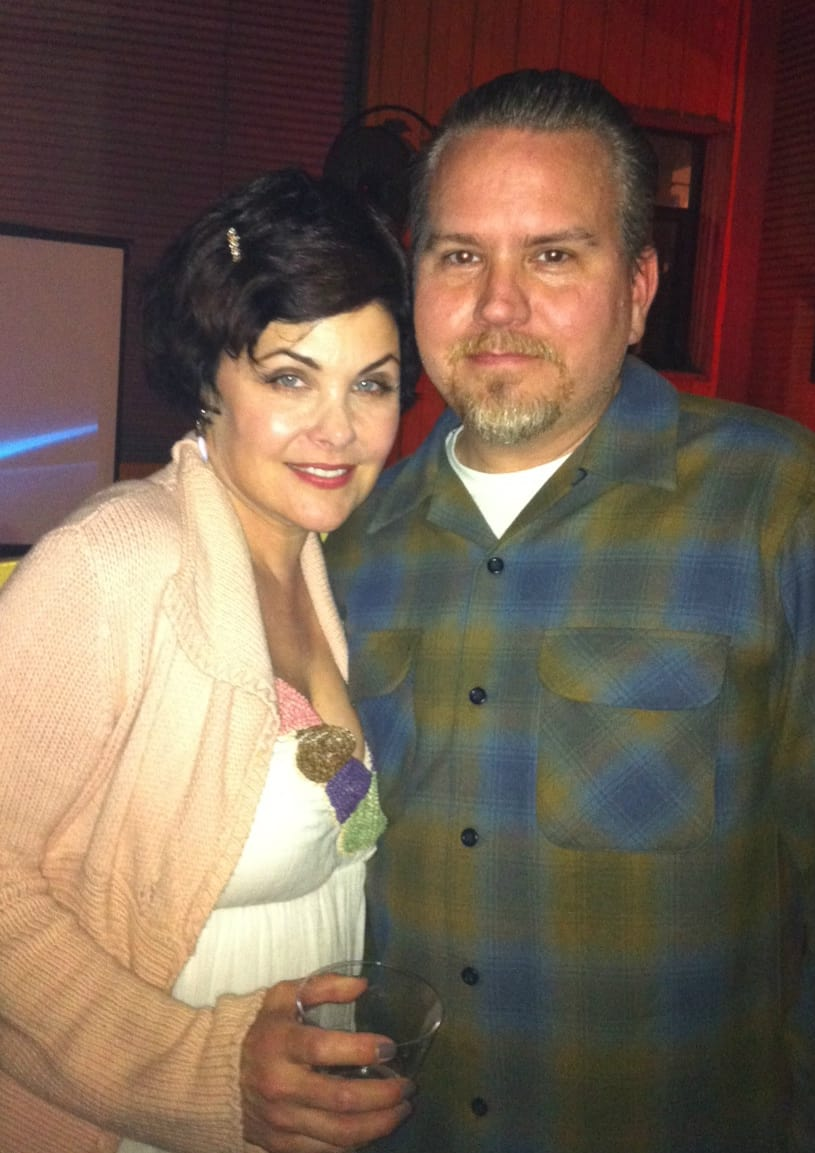 Sheryl Lee with artist Keith Weesner.