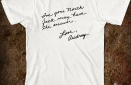 I've gone north, Audrey note t-shirt