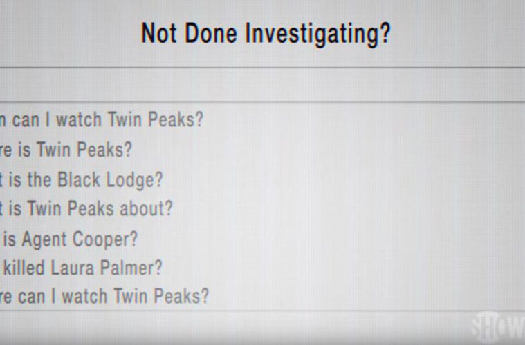Twin Peaks Google ad campaign