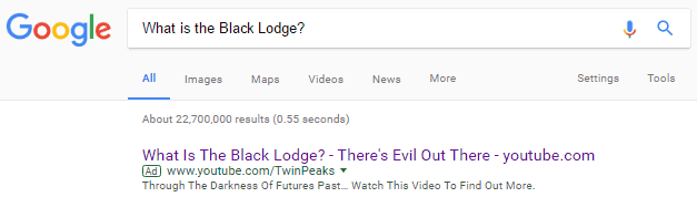 Google What is the Black Lodge?