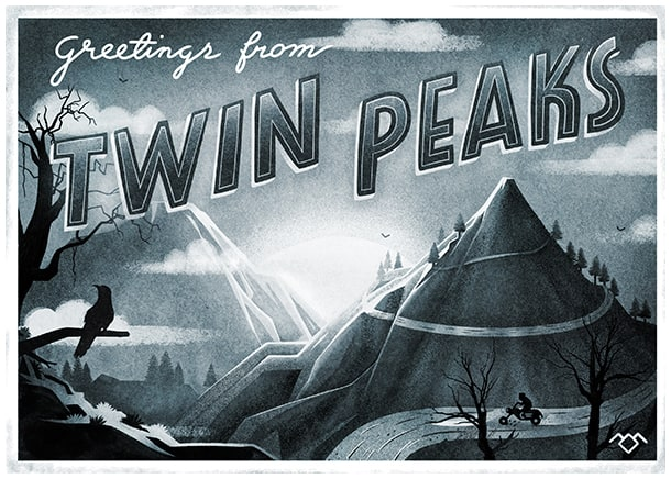 Twin Peaks Tribute by Muti: Postcard
