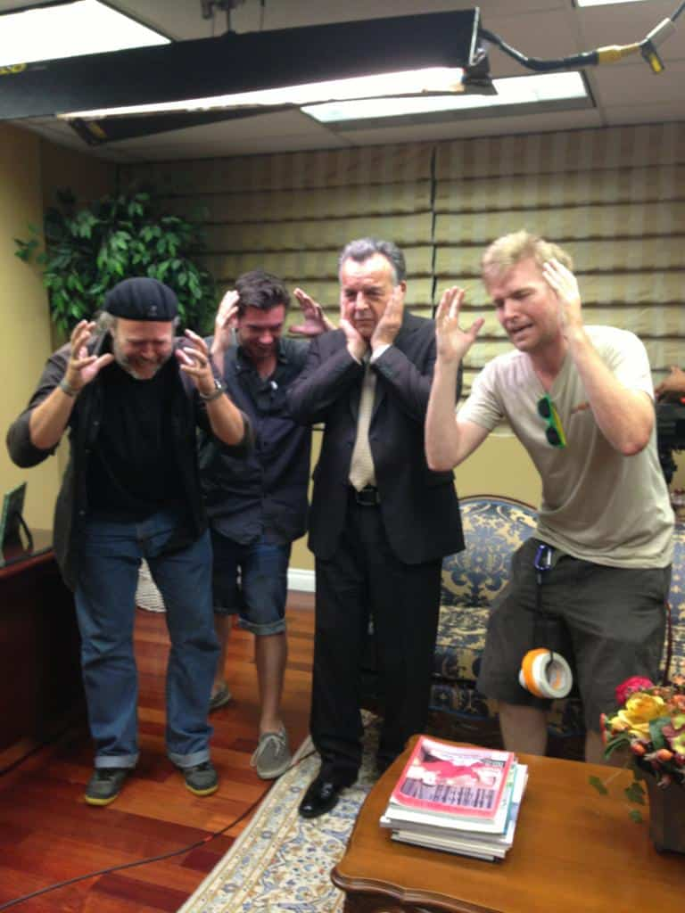 Guardian Angel crew with Ray Wise doing the Leland Palmer Shuffle