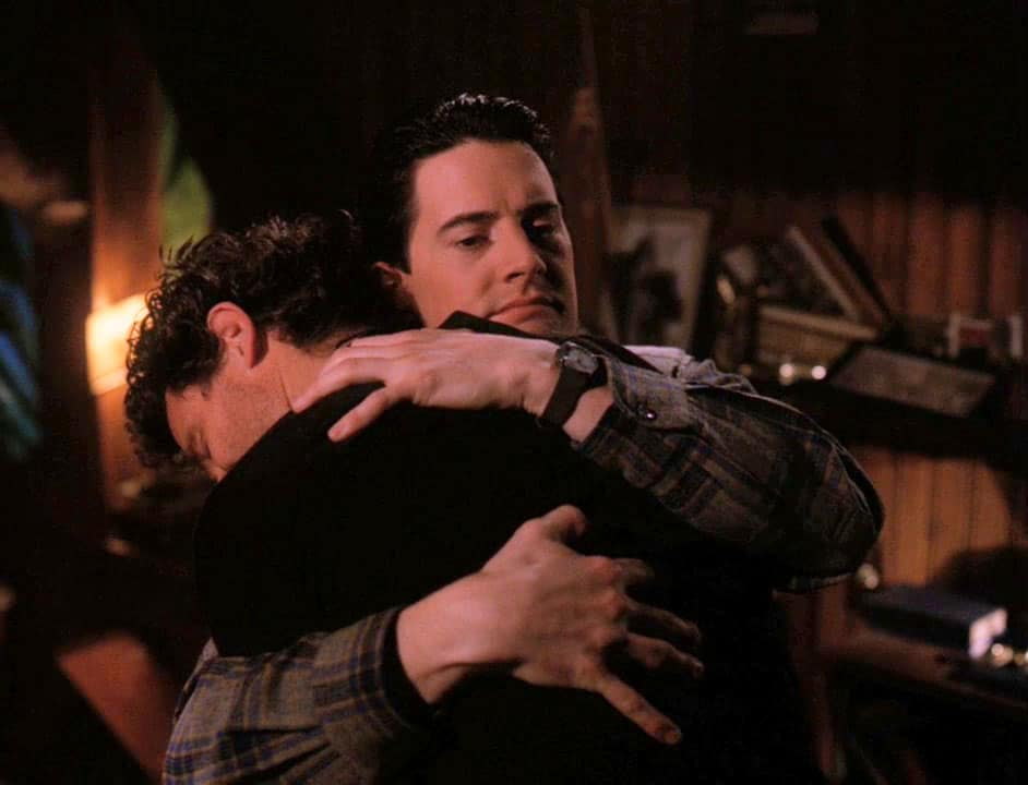 Harry and Coop hugging