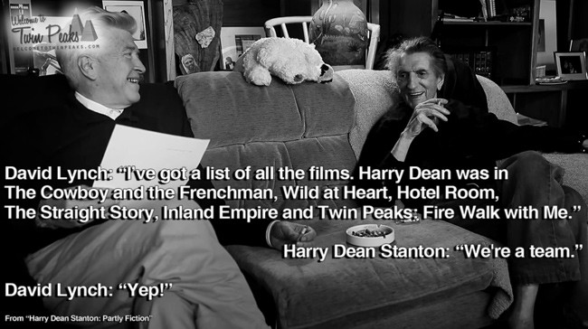 Harry Dean Stanton and David Lynch: We're a team