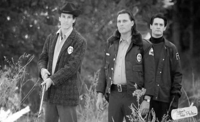 Sheriff Truman, Deputy Hawk and Agent Cooper