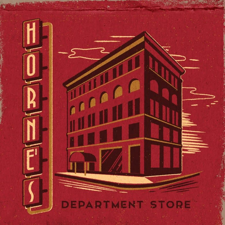 Horne's Department store matchbook