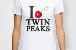 I Love Twin Peaks Cherry Stem T-Shirt
