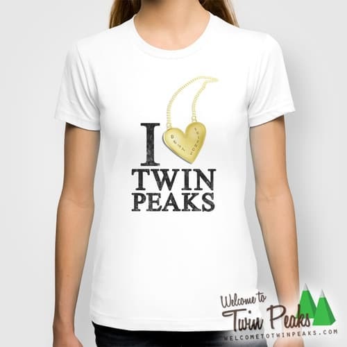 I Love Twin Peaks (Gold Heart Necklace)