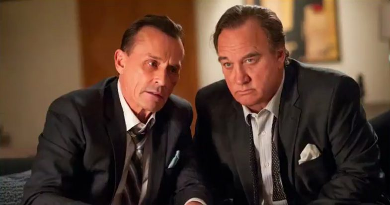 Robert Knepper and Jim Belushi as their Twin Peaks characters