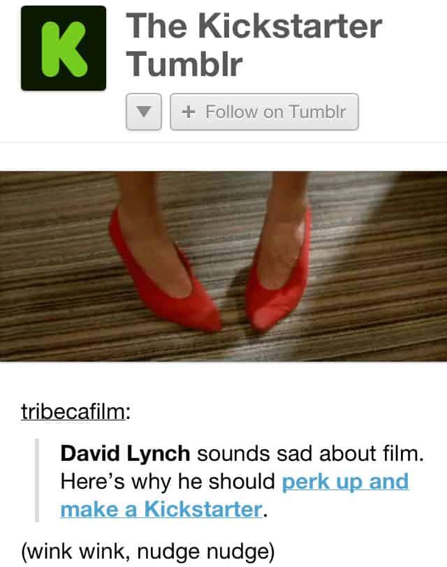Kickstarter David Lynch movie