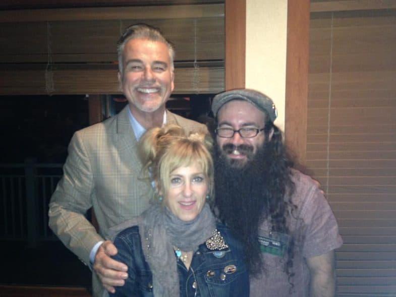 Kimmy Robertson and Ian Buchanan with Vinnie Guidera
