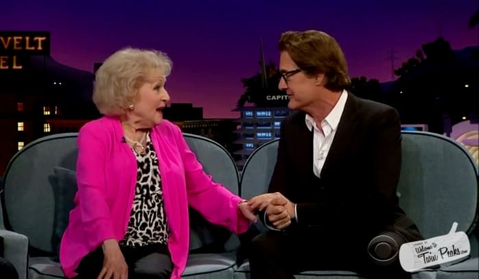 Kyle MacLachlan meets Betty White on Late Late Show with James Corden