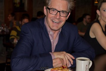 Kyle MacLachlan enjoying coffee and cherry pie at Lost Lake Cafe & Lounge in Seattle