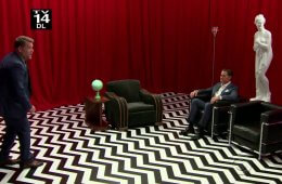 Kyle MacLachlan and Judi Dench in the Red Room on Late Late Show with James Corden