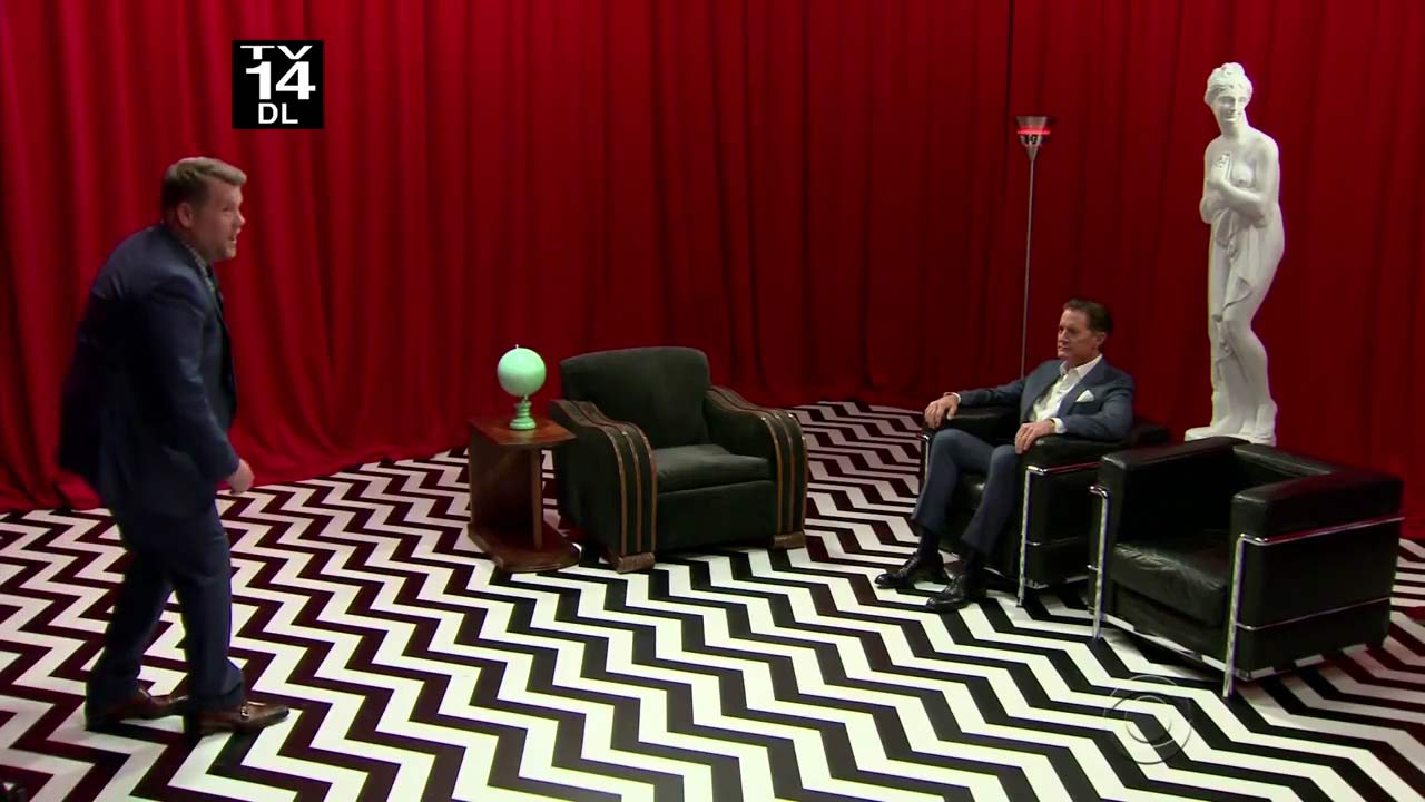 Kyle MacLachlan Revisits The Red Room On James Corden\'s Late Late Show